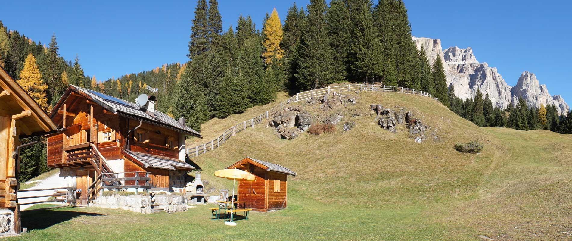Baita pradel baita di montagna affittasi per ferie a canazei for Rifugio in baita di montagna